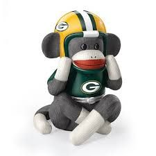 Music Box: Green Bay Packers Sock Monkey Music Box by The Bradford Exchange