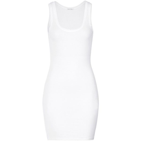 American Vintage Fine Cotton Tank Dress ($65) found on Polyvore featuring dresses, white, american vintage, cotton dress, layered dress, tank top dress and white cotton dress