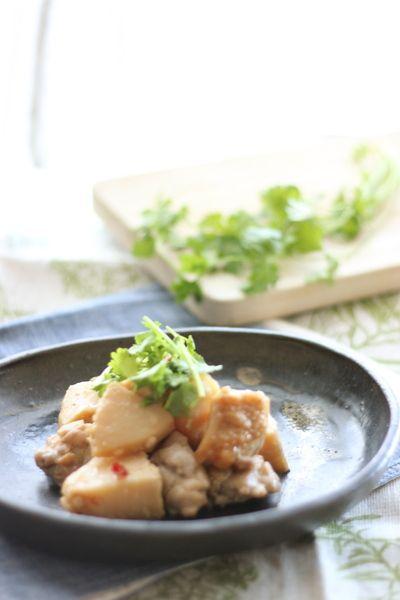 好評につき、再度レシピをアップします。パクチーたっぷり タイ風 たけのこと