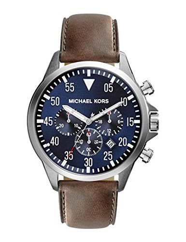Michael Kors Gage Chronograph Blue Dial Brown Leather Mens Watch MK8362 Michael Kors http://www.amazon.com/dp/B00N2BIFXS/ref=cm_sw_r_pi_dp_bM-Gub0CKXP3J