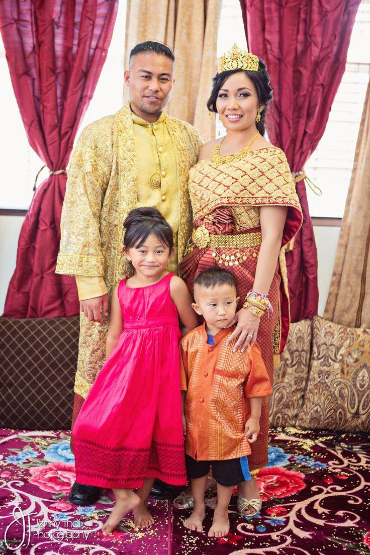 Khmer Wedding Gold Family Portrait