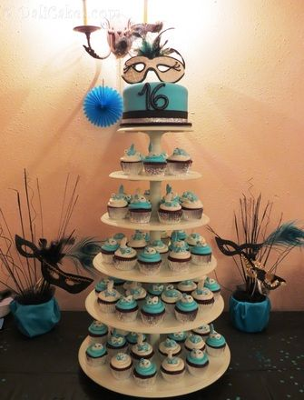 Masquerade Cupcake Tower