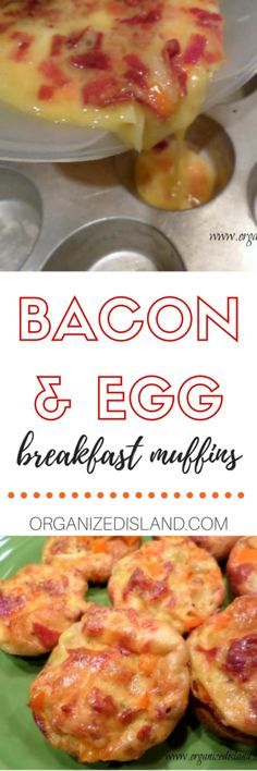 Bacon and egg breakfast muffins - quick and easy to make ahead!