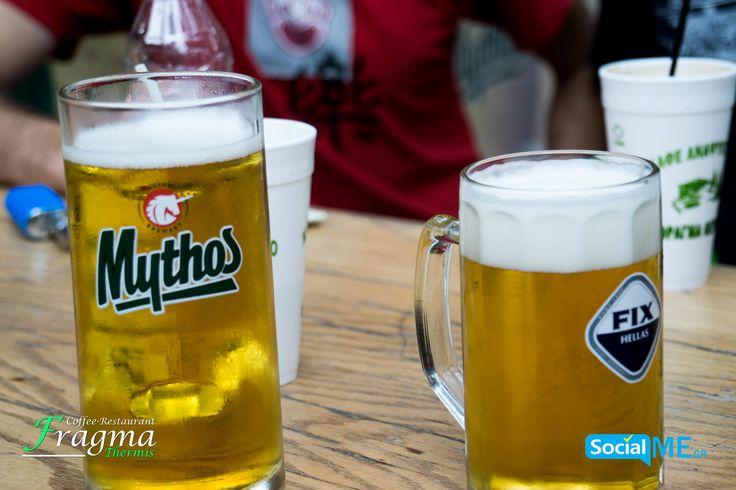 Κι αν μεσημεριάσει πιές μια παγωμένη μπύρα Μύθος ή Fix #FragmaThermis #Thermi #Thessaloniki #Coffee #Restaurant