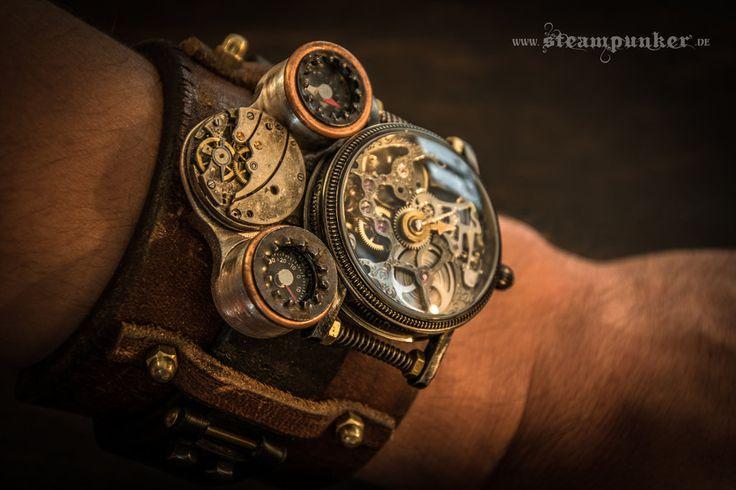 Steampunk watch - timemachine by steamworker.deviantart.com on @deviantART