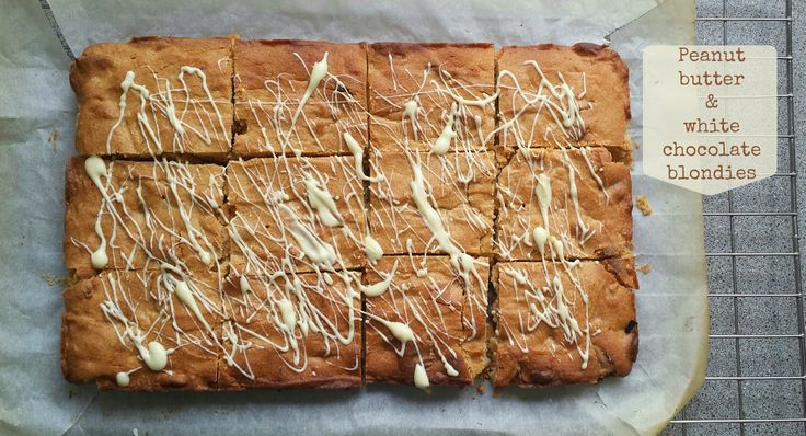 Nobody Said It Was Easy : Recipe - Peanut butter & white chocolate blondies