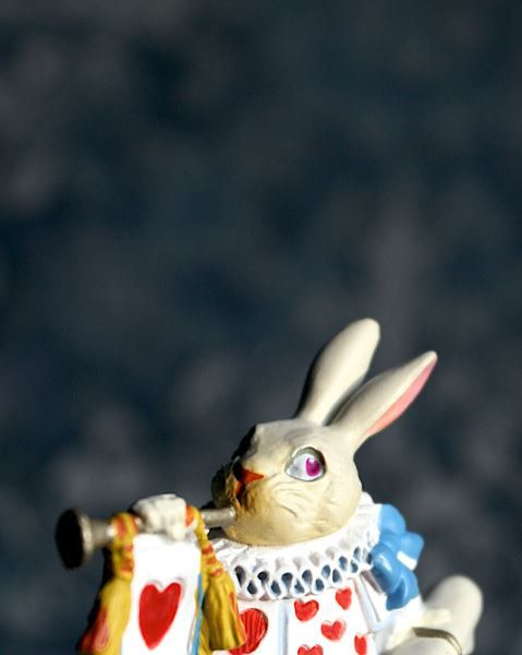 Alice In Wonderland  The White Rabbit Trumpeter  by BACLORI