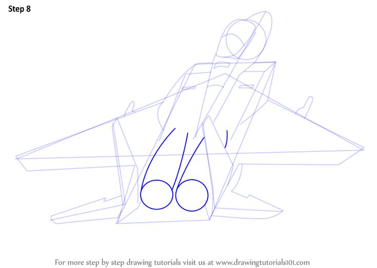 step by step how to draw a jet plane in 11 easy steps