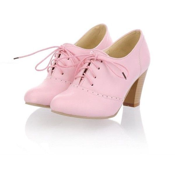2012 fashion ladys high heel shoes, pu women Vintage oxford shoes ,plus size high heel pumps found on Polyvore