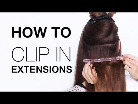 How to Clip In Hair Extensions | Estelle's Secret Hair Extension Tutoria...