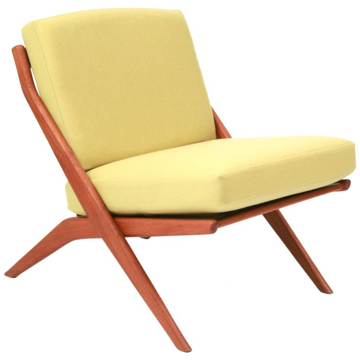 60's Teak Scissor Chair by Folke Ohlsson