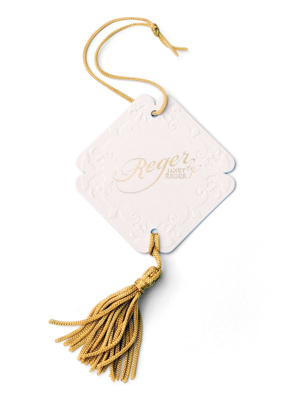 luxury swing tag by janet reger brand