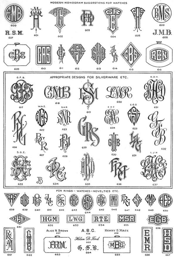 More than a handful of monograms.