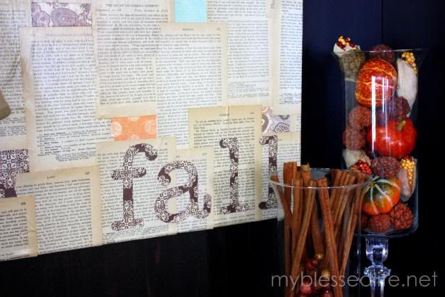 Simple DIY artwork for fall decorating or really anything...tutorial is awesome.