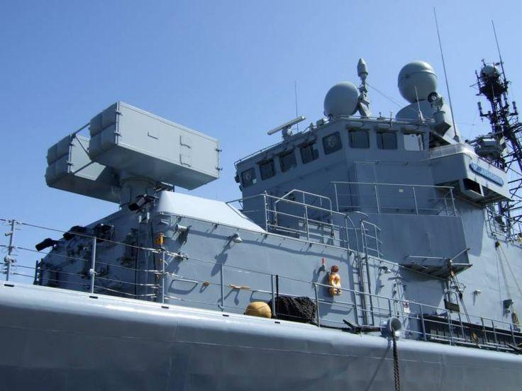f 208 fgs niedersachsen type 122 bremen class frigate mk 29 missile launcher rim-7 sea sparrow sam german navy