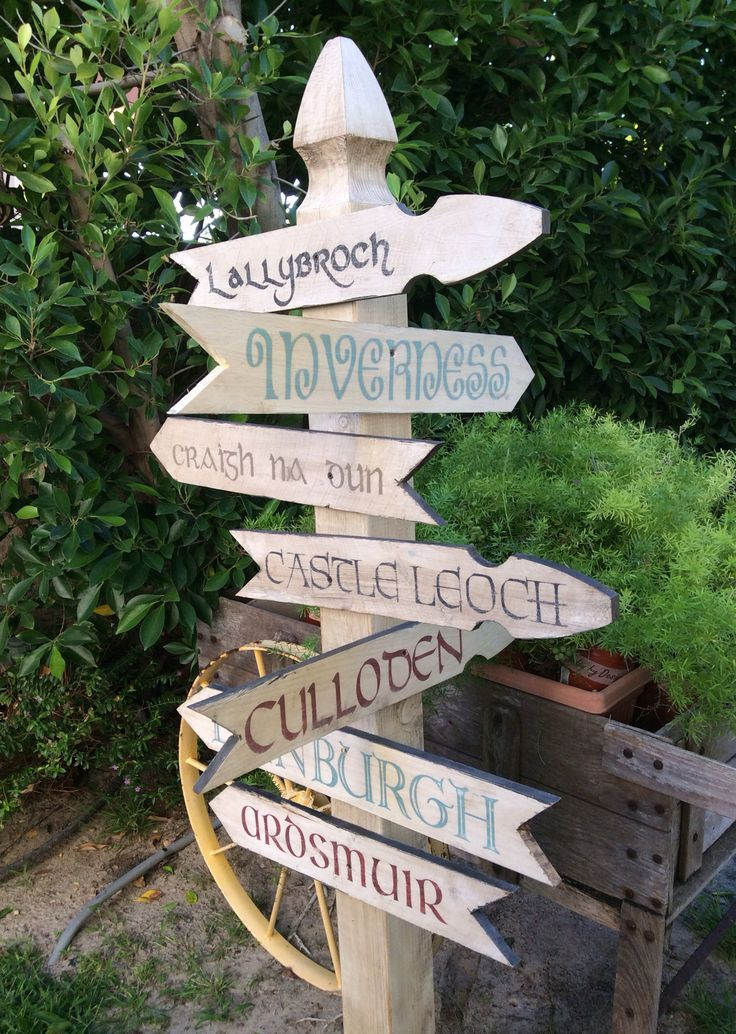Outlander Sign Post  Created for our Scottish themed  Outlander Premier Party One of a kind