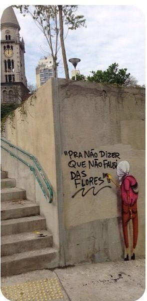 """""""Pra não dizer que não falei das flores"""" .By Os Gemeos, Brazil"""