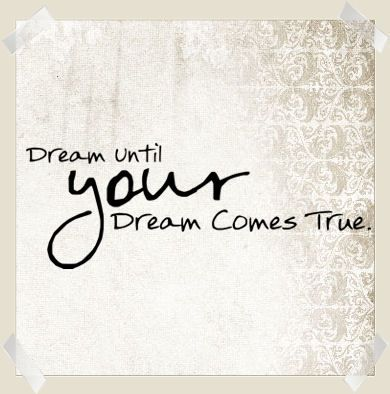 Dream Until Your Dreams Come True Wall Decals - Trading Phrases
