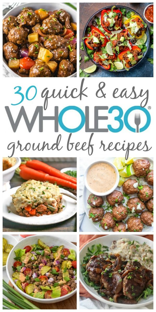 These Paleo And Whole30 Ground Beef Recipes Are Quick Easy And Make Great Meal Prep Ground Beef Paleo Recipes Ground Beef Recipes Healthy Healthy Ground Beef
