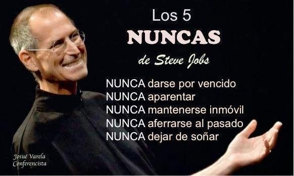 Los 5 nunca de #SteveJobs