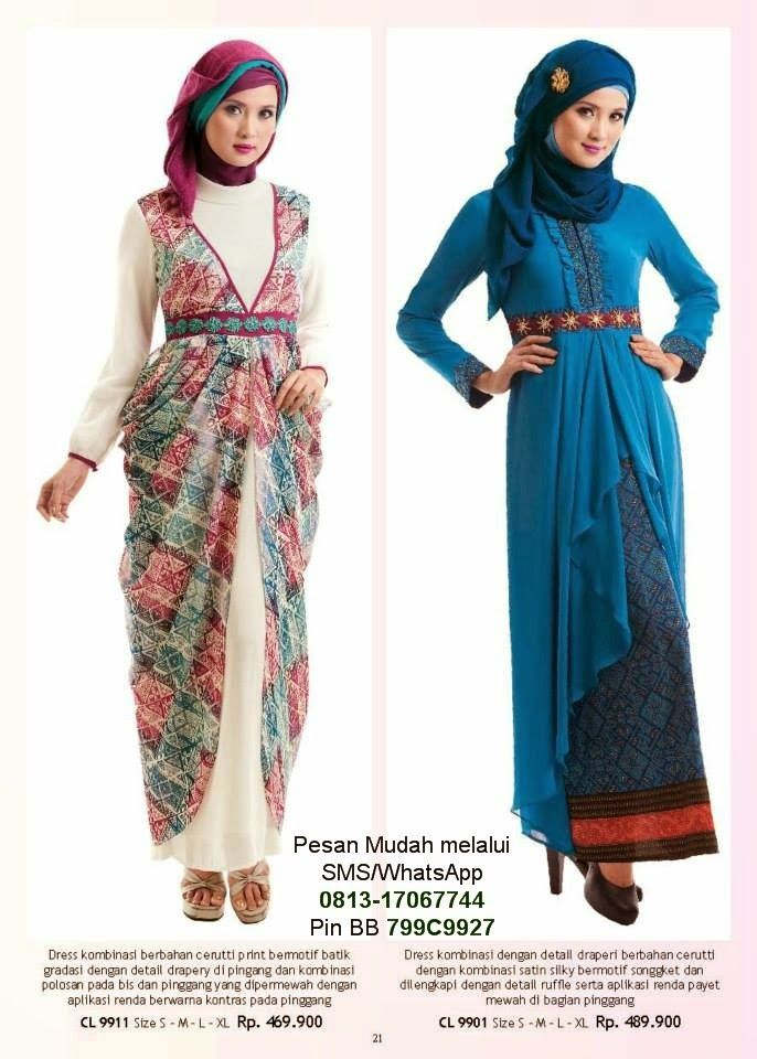 Baju Gamis Terbaru 2014 Cantik Berbaju Muslim Gamis
