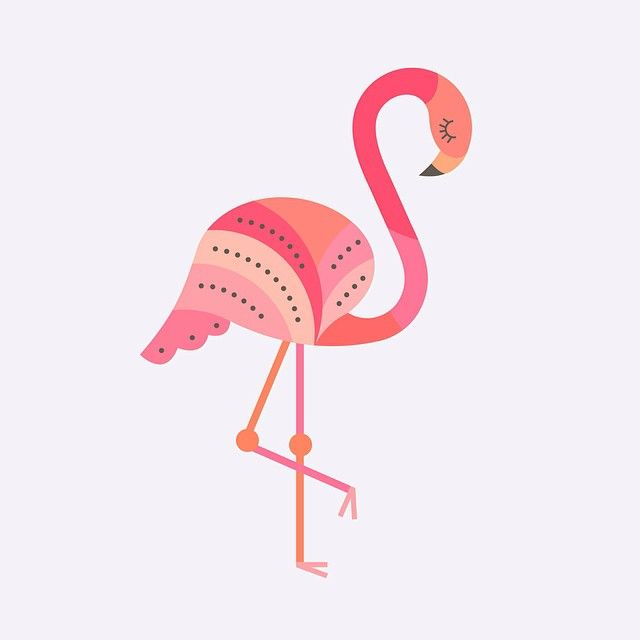 2/100: Flamingo #The100DayProject #100daysofcolorfulanimals