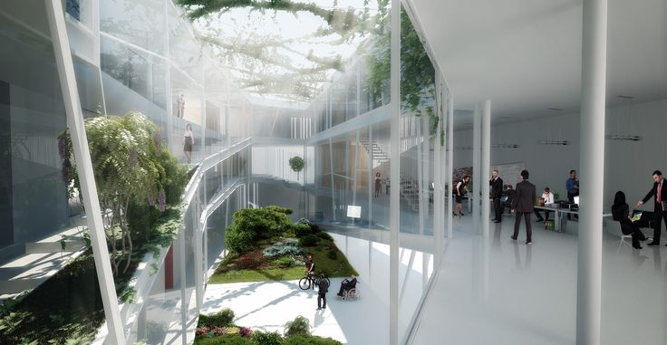 Competition CNA by SIMPRAXIS architects | MORFO visualisations