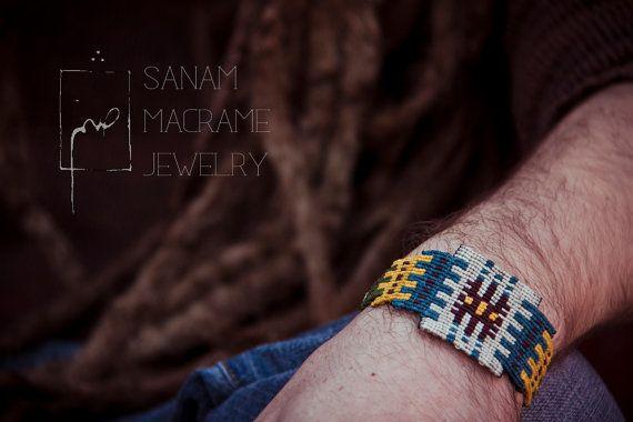 SANAM Persian rug pattern handmade macrame bracelet by SanamHandmade, €65.00
