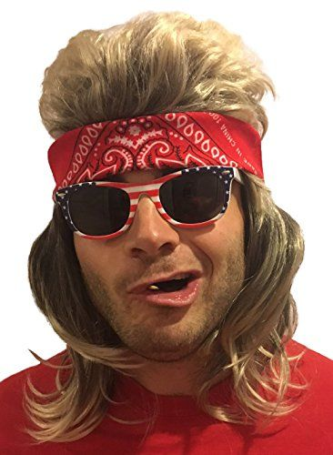 Premium Dirty Blonde Mullet Wig  Redneck Halloween Costume 80s Wig Mullets  for Kids Adults Hillbilly Costumes Blond Women s Men s 80 s Mullet Wigs for  Men ... ea97aed830