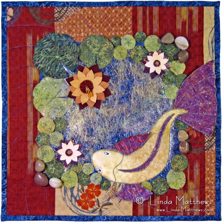 1000 images about quilts animal themed on pinterest for Koi pond quilt pattern