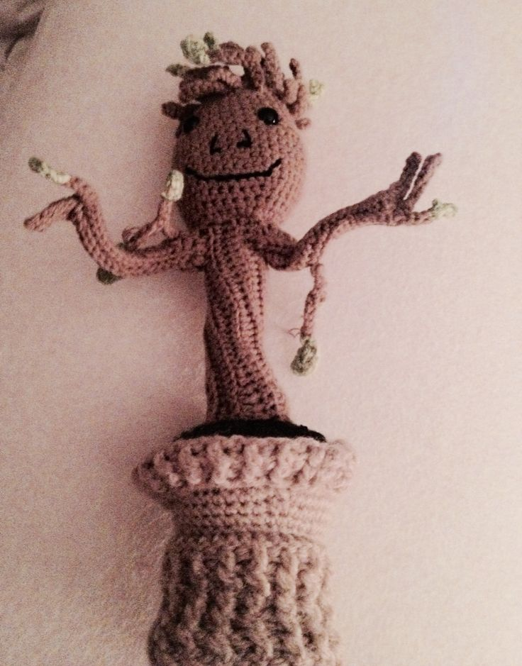 My version of baby Groot from guardians of the Galaxy. #crochet