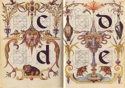 Joris Hoefnagel (Flemish, 1542-1601), illuminations to Georg Bocskay's Mira calligraphiae monumenta
