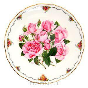 """Элизабет Смейл """"Роза """"Королева Елизавета"""", декоративная тарелка. Фарфор, деколь, золочение. Royal Albert, Великобритания, 1990-е гг. - купит..."""