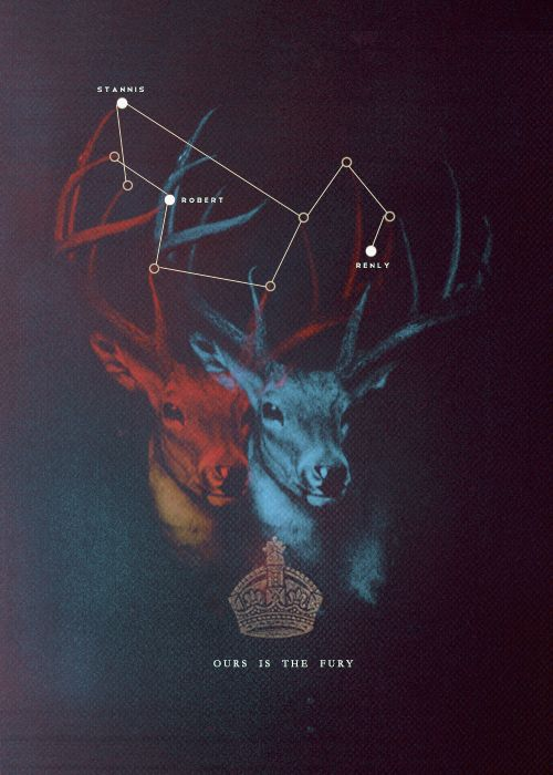 House Baratheon, Game of Thrones (fan art? either way it rules)