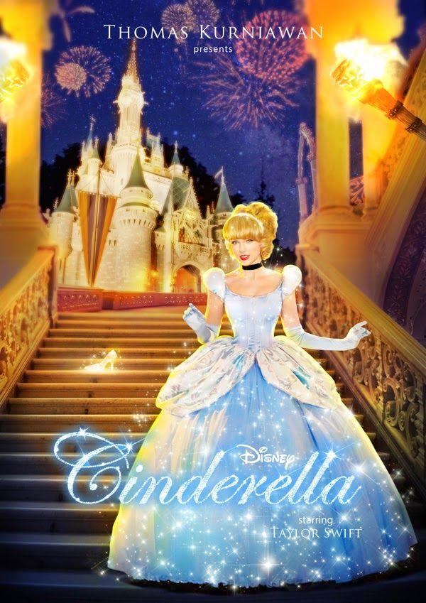 """Disney Princess Celebrities: Taylor Swift as Cinderella"" - Photo manipulation by Thomas Kurniawan"