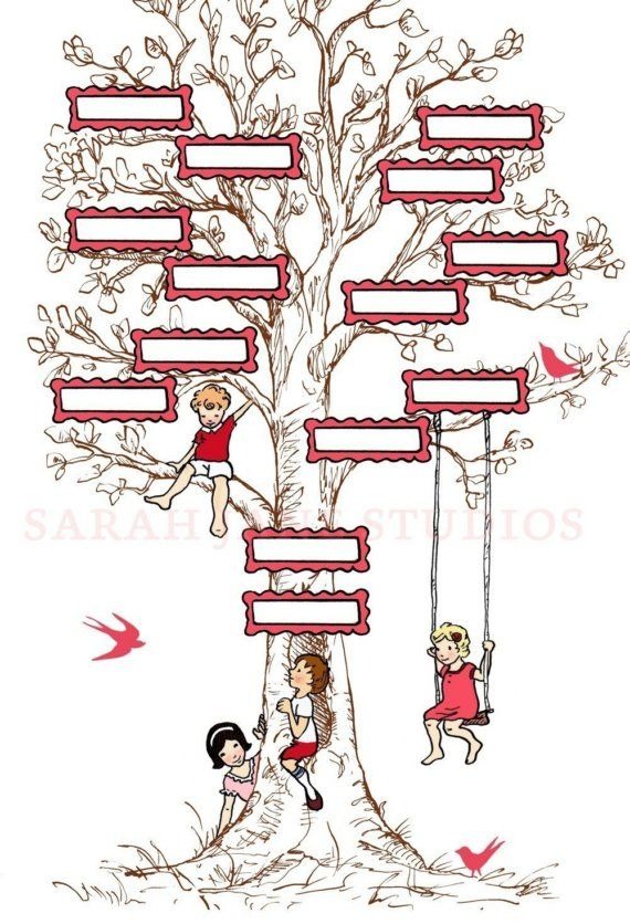 Family Tree Template Free Four Generation Blank 8 \u2013 ffshop inspiration