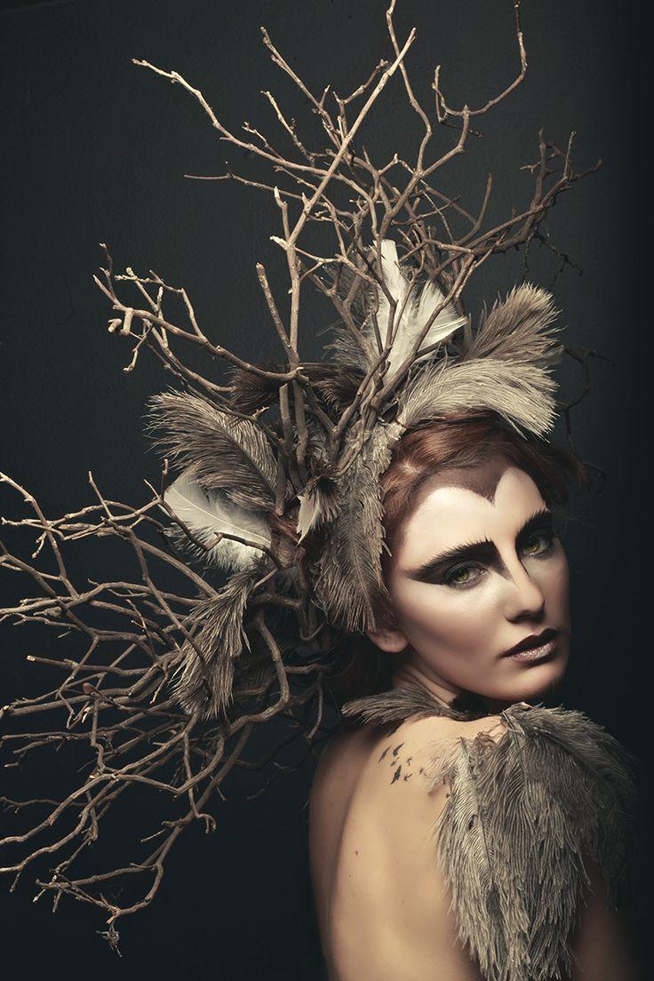 """Owl"" — Photographer: Natasha RaichelMakeup: Jemma DomenicaModel: Jade Smith"