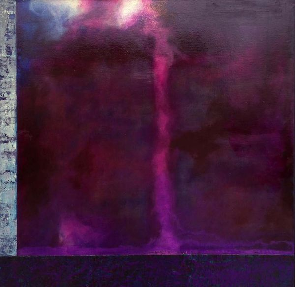 """Brooklyn #60"", purple abstract painting by Jim Caldwell    ----BTW, Please Visit:  http://artcaffeine.imobileappsys.com"