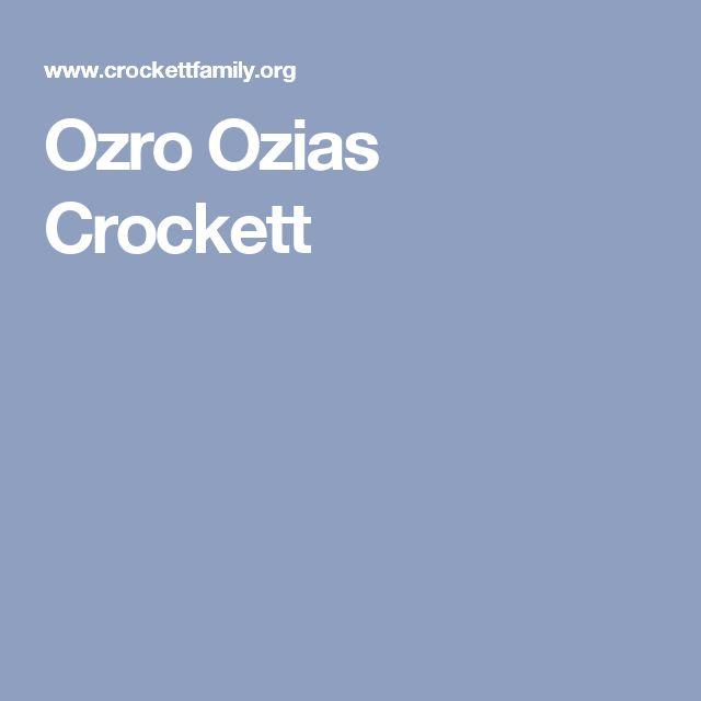 Ozro Ozias Crockett
