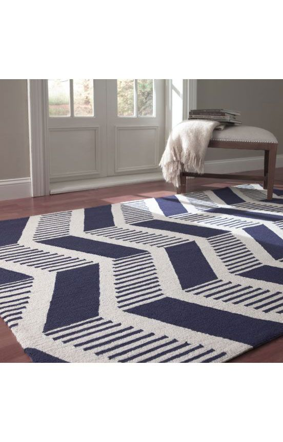 Nuloom Handmade Modern Chevron Wool Rug Like The Blue Or Grey Various Sizes