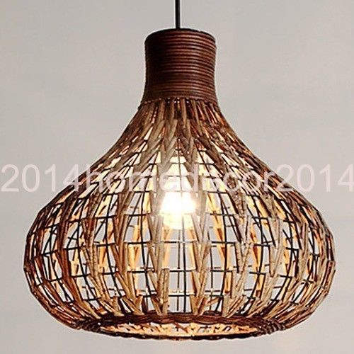 60W Contemporary Wood Industrial Hanging Pendant Light Natural Design Retro Cafe | eBay