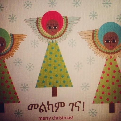 Lemlem Christmas card Melkam Gena!! #Habesha