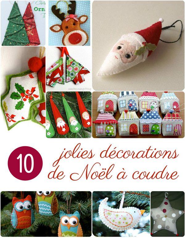 10 nouveaux ornements de Noël à coudre - Blog de Petit Citron Blog de Petit Citron