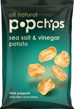 Sea Salt & Vinegar Popchips. popped, not fried; no artificial flavors/colors etc; gluten free... YUM!