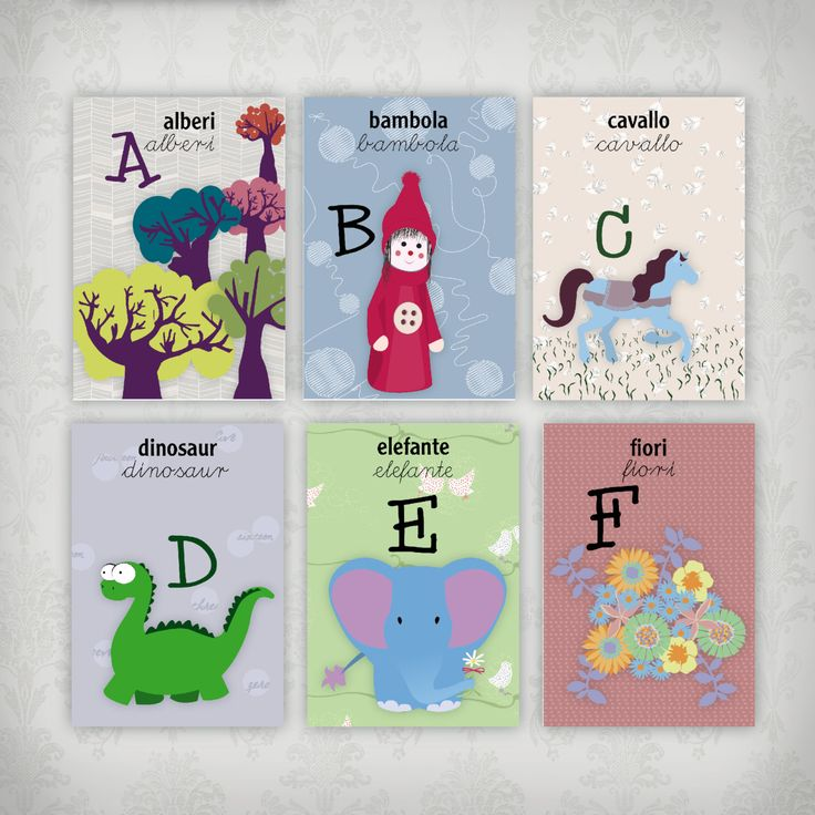 baby alphabet, alphabet chart, printable alphabet, alphabet with pictures by graficious on Etsy