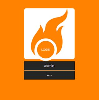 Orange Fire login plantilla para portal cautivo, login Mikrotik hotspot