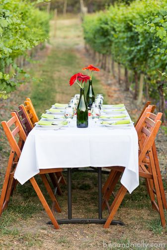 Winery Wedding, Vineyard Wedding. Wedding Table Settings, Reception Table  Settings. Decoration Ideas