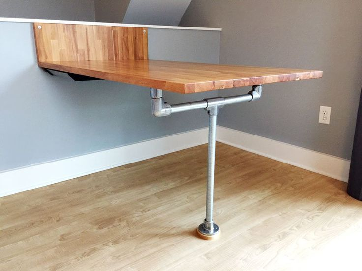 DIY Ikea Wall U0026 Floor Mounted Pipe Table (with Step By Step Plans