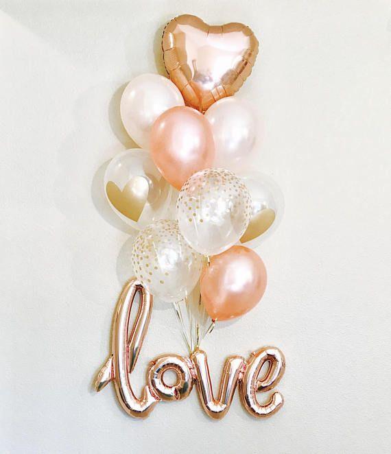 Rose Gold Love BalloonsLove BalloonRose Gold and Peach Latex