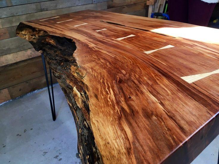 brave slab of wood desk 13